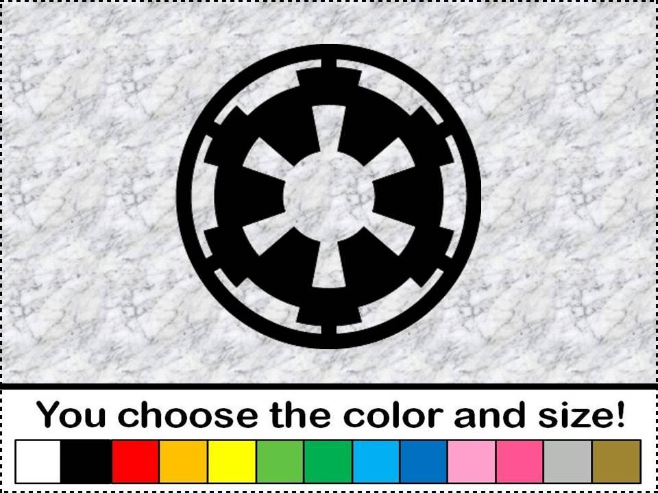 star wars galactic empire vinyl sticker decal car wall. Black Bedroom Furniture Sets. Home Design Ideas