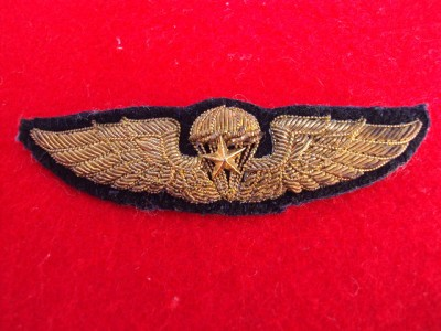 ULTRA RARE WWII OSS Chinese Commando gold bullion jump wings