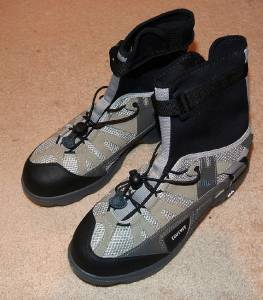 New bite portage high top wading shoes fly fishing kayak for Fly fishing shoes