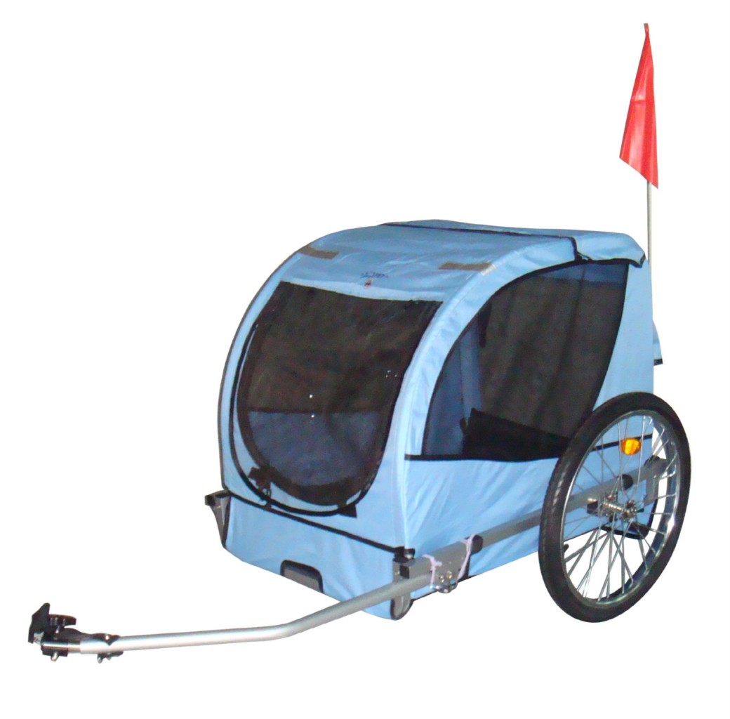 blue pet bike trailer dog stroller cat carrier bicycle ebay. Black Bedroom Furniture Sets. Home Design Ideas