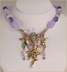 Kirks Folly Tanzanite Bead Luna Ocean Mist Fairy Charm Necklace