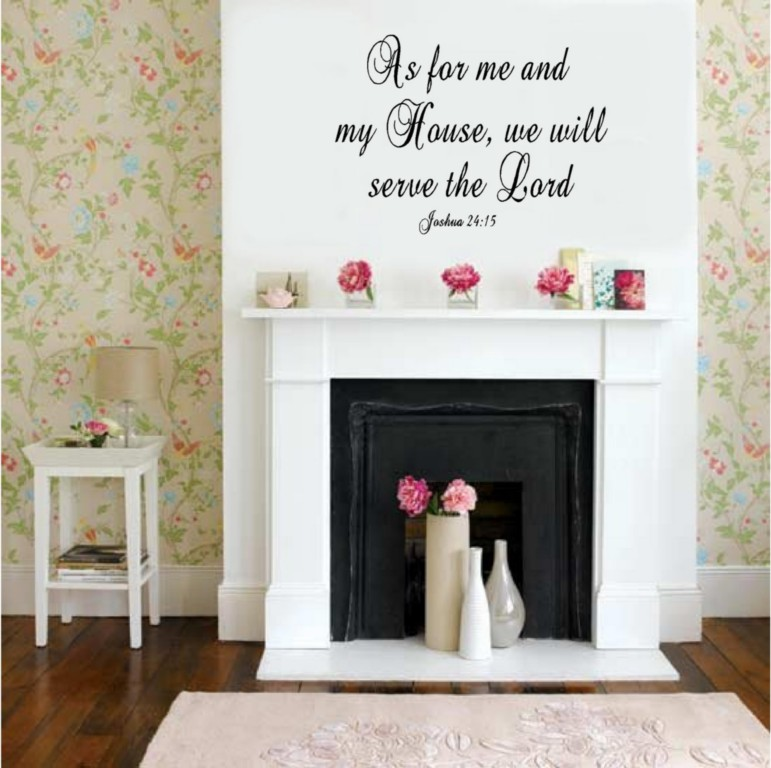 As for me my house christian verse vinyl decal stickers for Christian decorations for home
