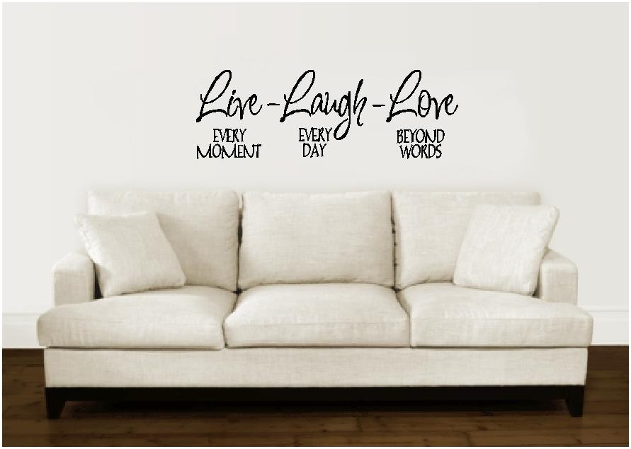 live laugh love wall decal sticker lettering vinyl word ebay wall stickers live laugh and love wall quote family 6415