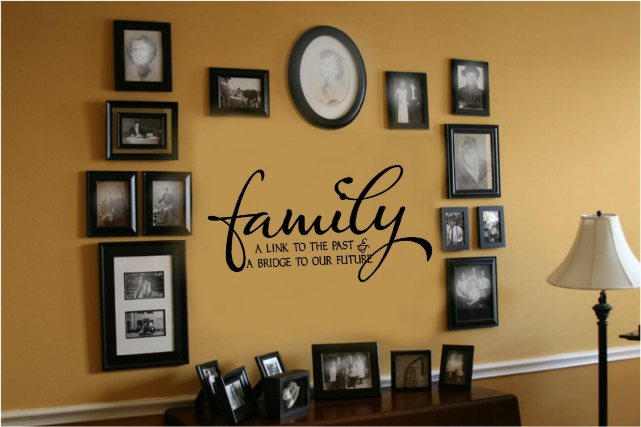 Wall Decor Decals Letters : Family link to past bridge future vinyl wall decal