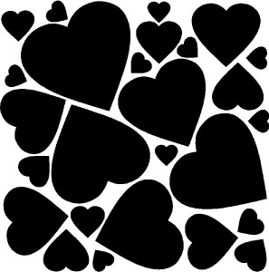 Hearts Valentines Day Wall Stickers Vinyl Decal Decor