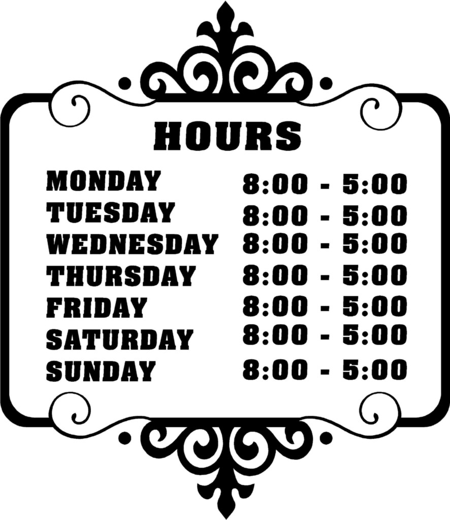 Free business hours template yolarnetonic free business hours template wajeb Images
