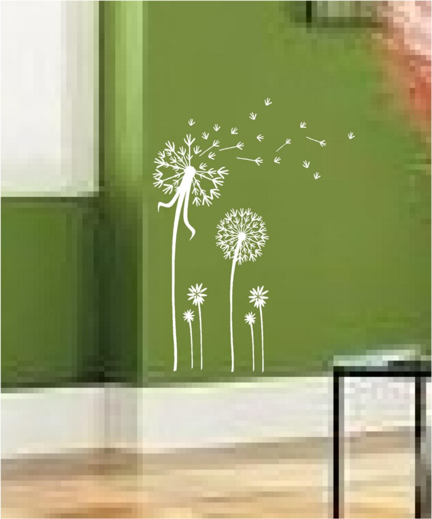 Dandelion wall decal 2017 grasscloth wallpaper dandelion spore art vinyl wall decal mural sticker amipublicfo Images