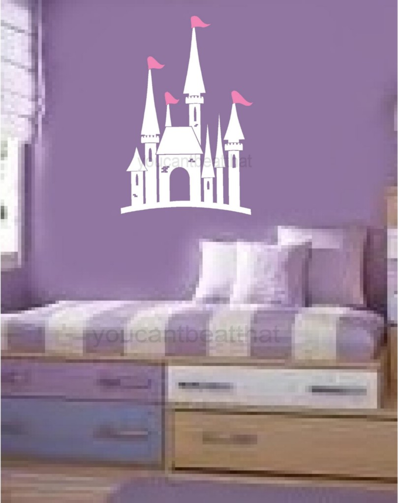Castle vinyl wall decal stickers room decor princess ebay for Castle wall mural sticker
