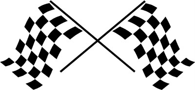 Checkered Racing Flags Vinyl Wall Decal Stickers Office Garage Room