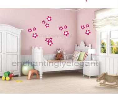 Flowers Vinyl Wall Decal Stickers Daisy Nursery Girl Room Decor