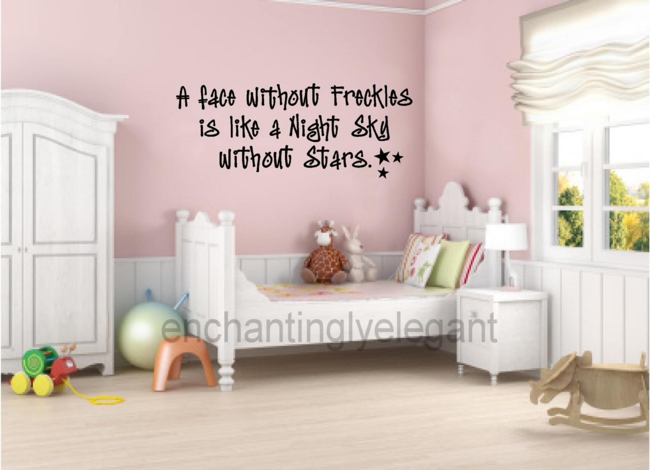 Face Without Freckles Vinyl Wall Decal Stickers Letters Room Decor