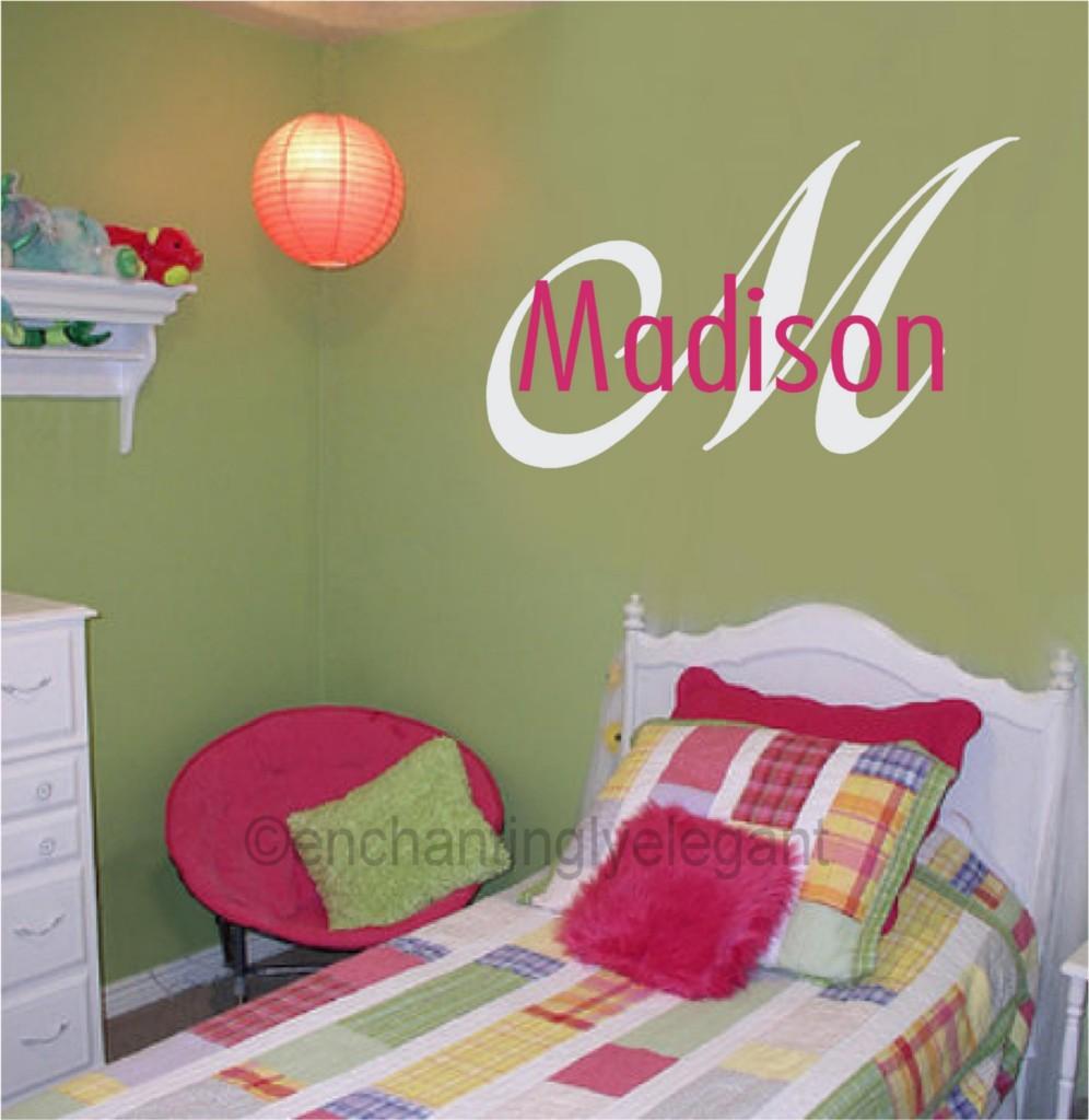 Custom-Monogram-Name-Vinyl-Decal-Wall-Stickers-Letters-Words-Teen-Room-Wedding