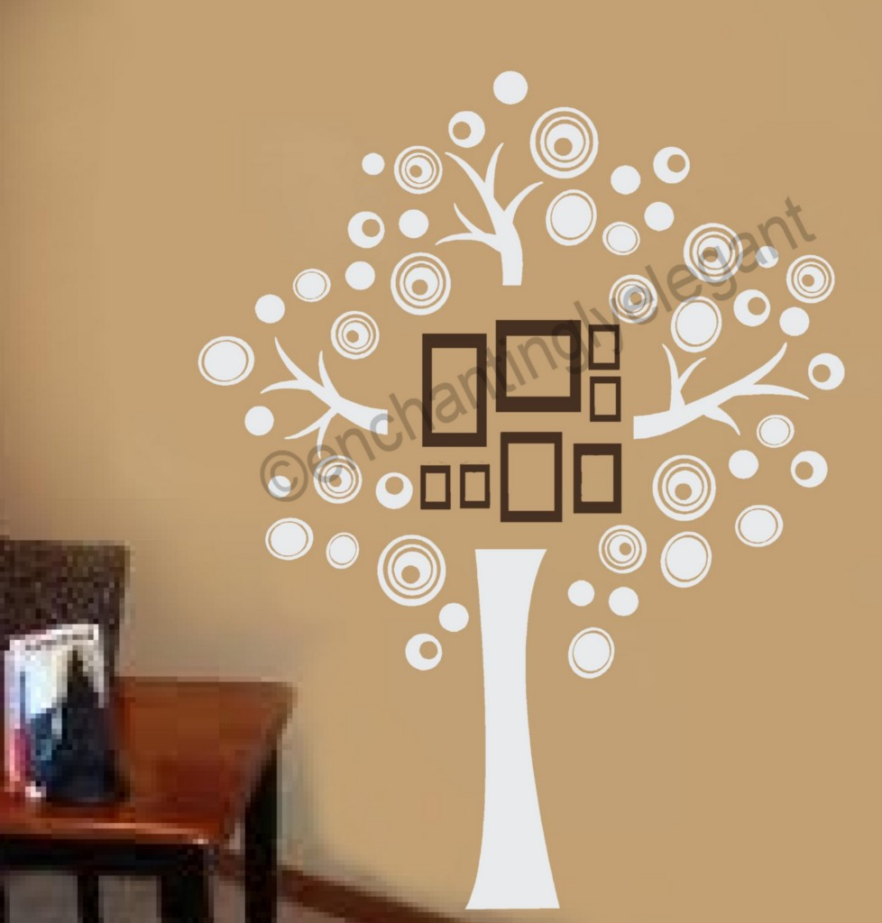 family tree vinyl decal wall sticker picture wall mural. Black Bedroom Furniture Sets. Home Design Ideas