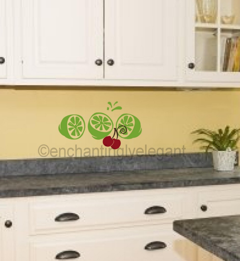 limes kitchen bar room decor backsplash vinyl decal wall