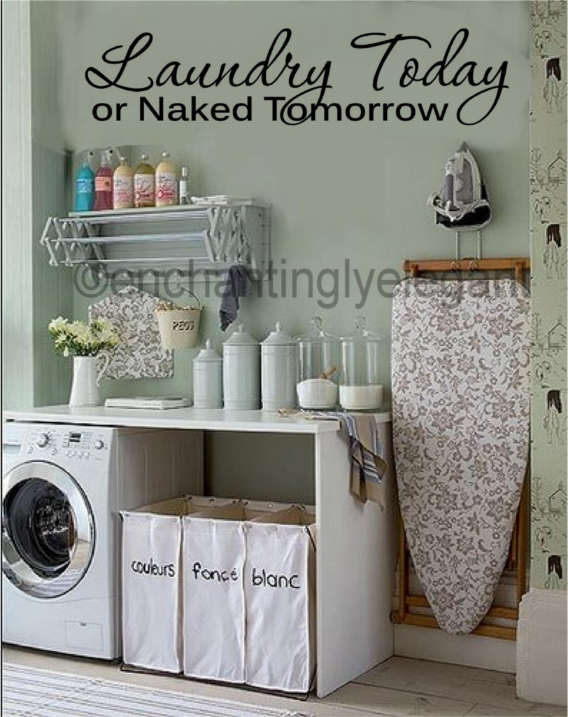 Laundry-Today-Or-Naked-Tomorrow-Vinyl-Decal-Wall-Sticker-Words-Lettering-Quote