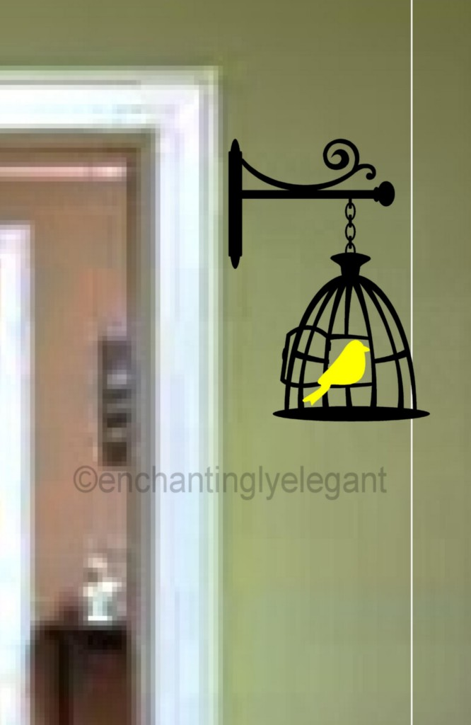 Bird And Cage Vinyl Decal Wall Sticker Bedroom Living Room