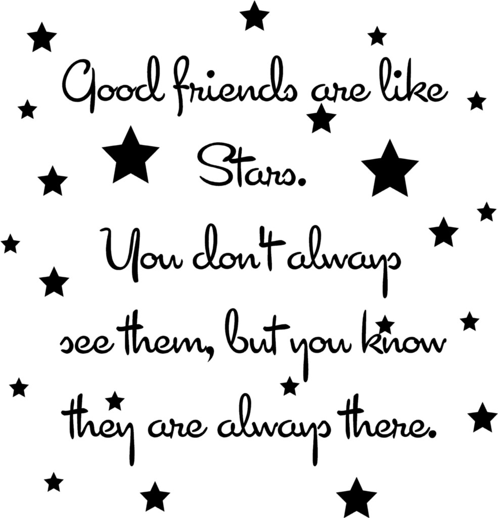 Good-Friends-Are-Like-Stars-Vinyl-Decal-Wall-Sticker-Words-Letters-Quote