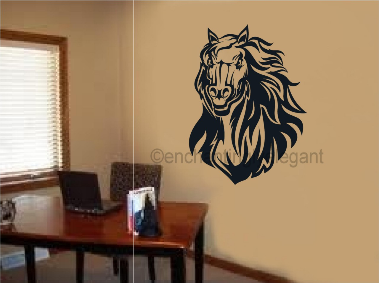 Horse vinyl decal wall sticker mural art kid room office for Decals for rv mural