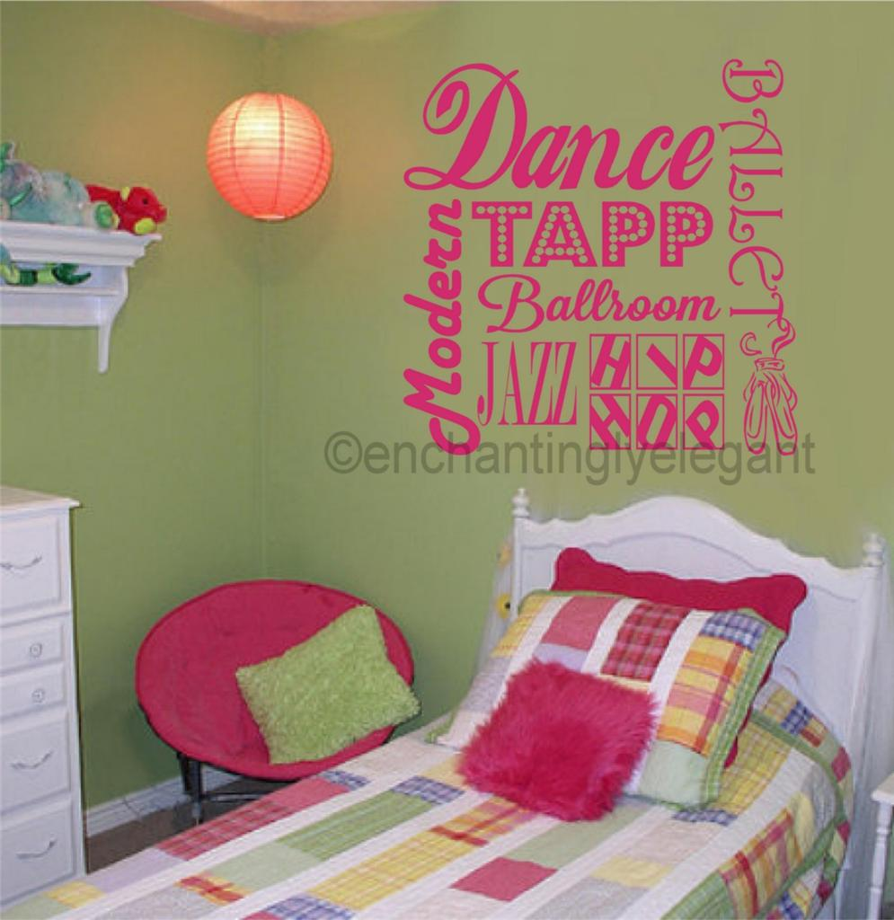 Dance Ballet Sports Vinyl Decal Wall Sticker Words ...