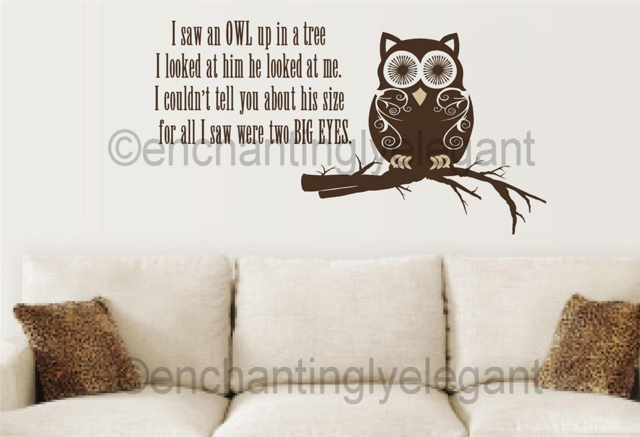 Sentiments Tree Wall Decor : Quotes about trees and owls quotesgram