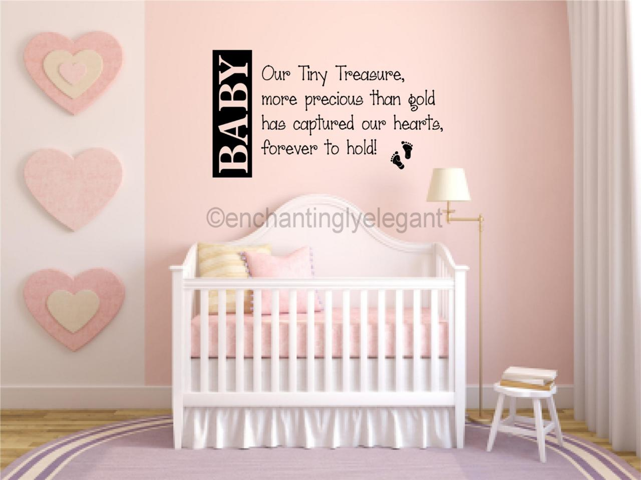 Baby our tiny treasure nursery room decor vinyl decal wall for Baby room decoration stickers