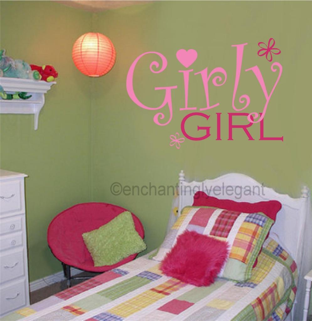 Girly Girl Teen Room Kids Room Decor Vinyl Decal Wall Sticker Words Letters Art Ebay