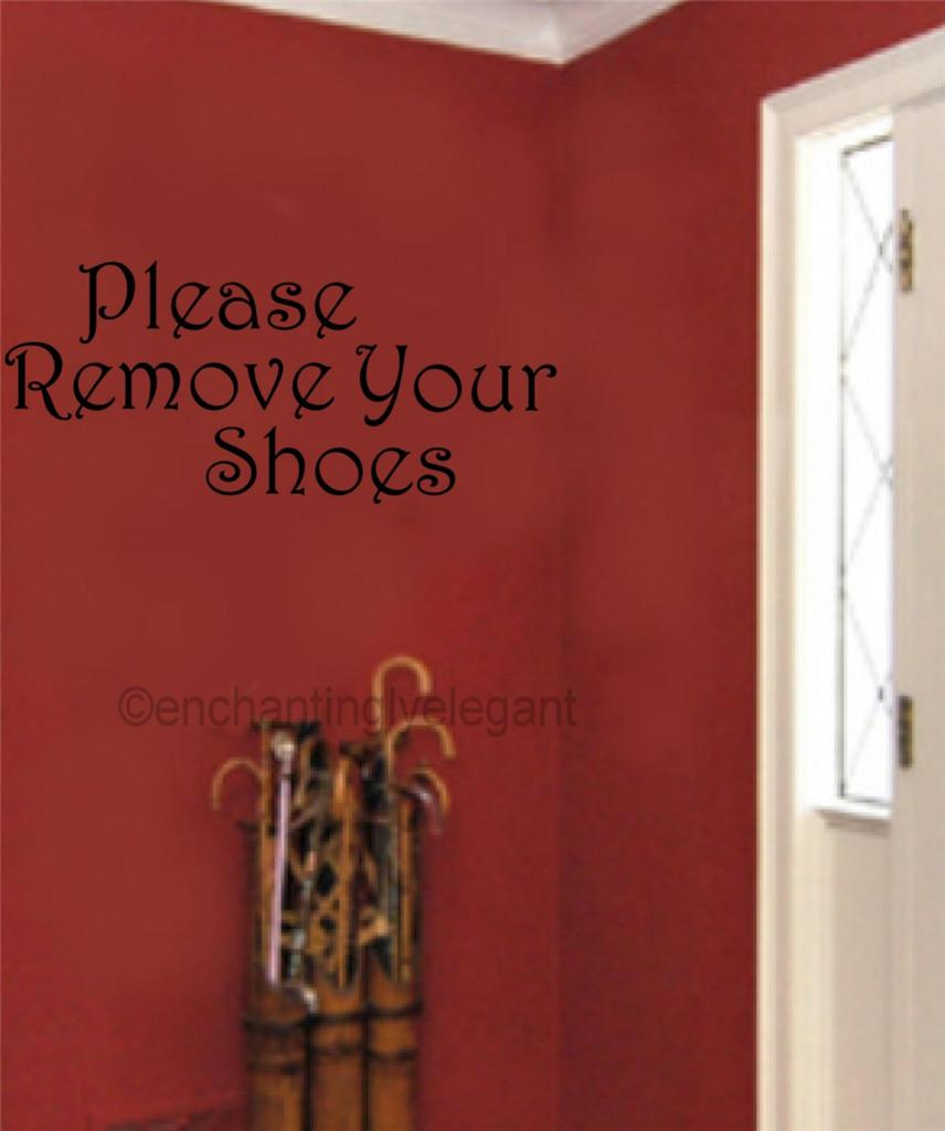 please remove your shoes vinyl decal wall sticker words how to remove stickers from doors walls and more from