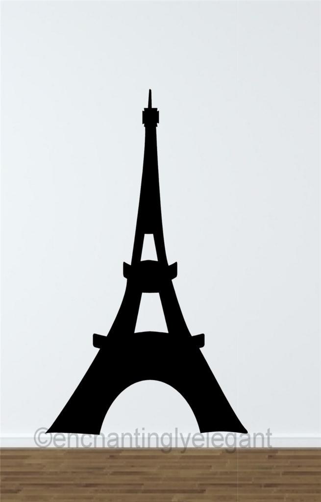 Eiffel Tower Vinyl Decal Wall Sticker Art Paris Decor Teen