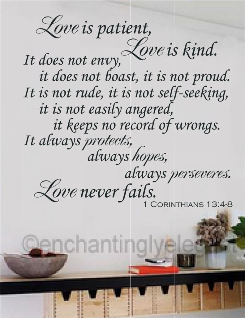 find scripture love is patient love is kind Sunday sermon: 'love is patient and kind you never find the word for sensual love used in the bible and it's not often that you find the word for.
