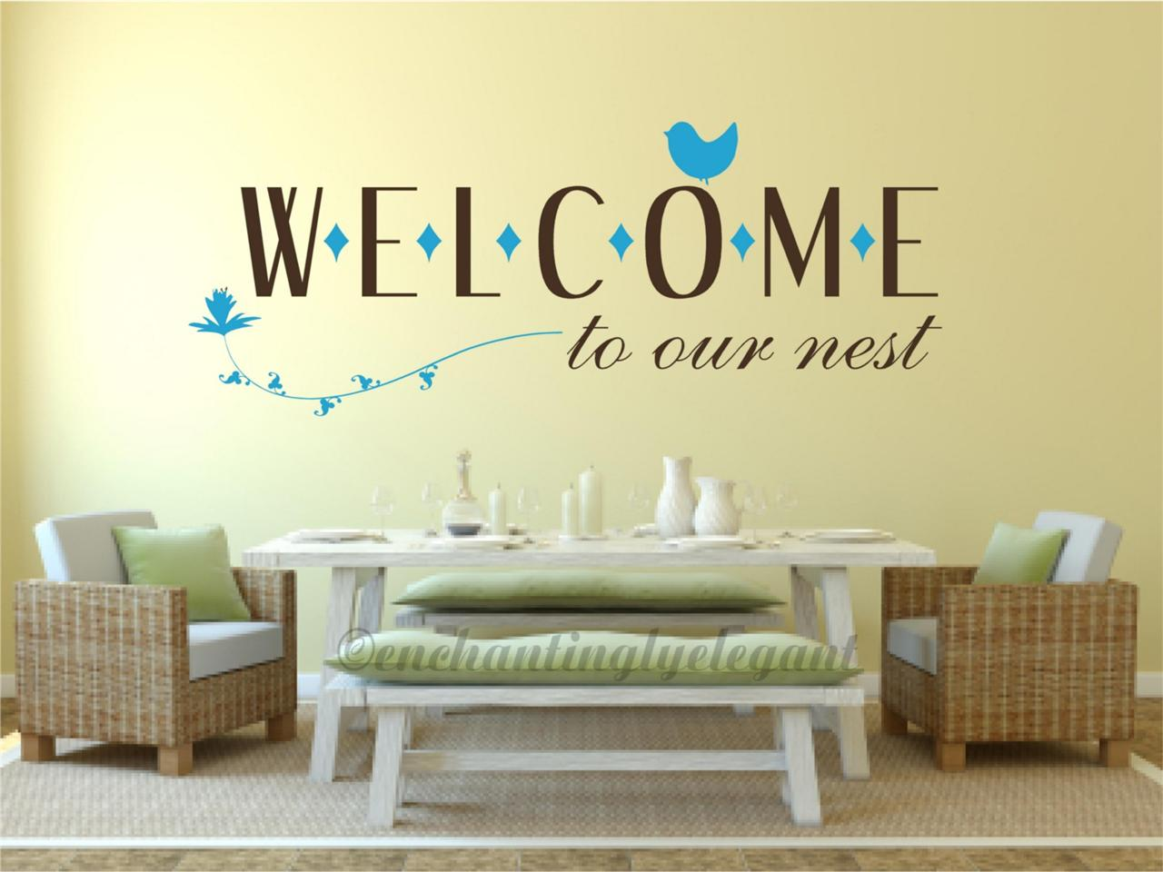 Welcome To Our Nest Home Decor Vinyl Decal Wall Sticker