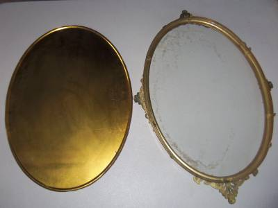 vintage 13 x 19 oval picture frame with convex bubble glass ebay. Black Bedroom Furniture Sets. Home Design Ideas