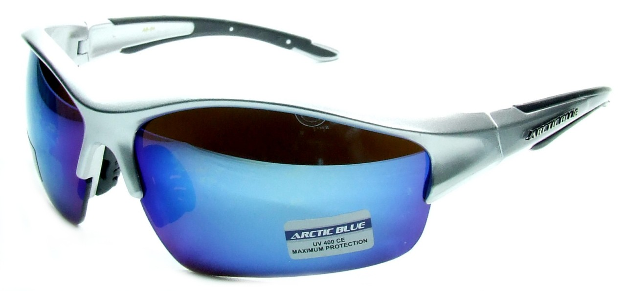 Occhiali da sole artic blue lenti a specchio avvolgenti per uomo e donna ebay - Occhiali a specchio uomo ...