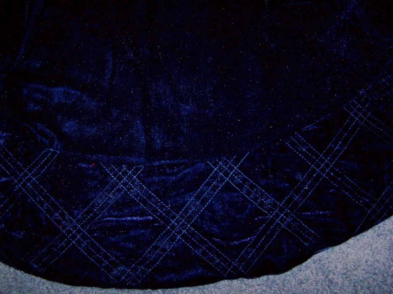 Personalized solid blue velvet christmas tree skirt ebay