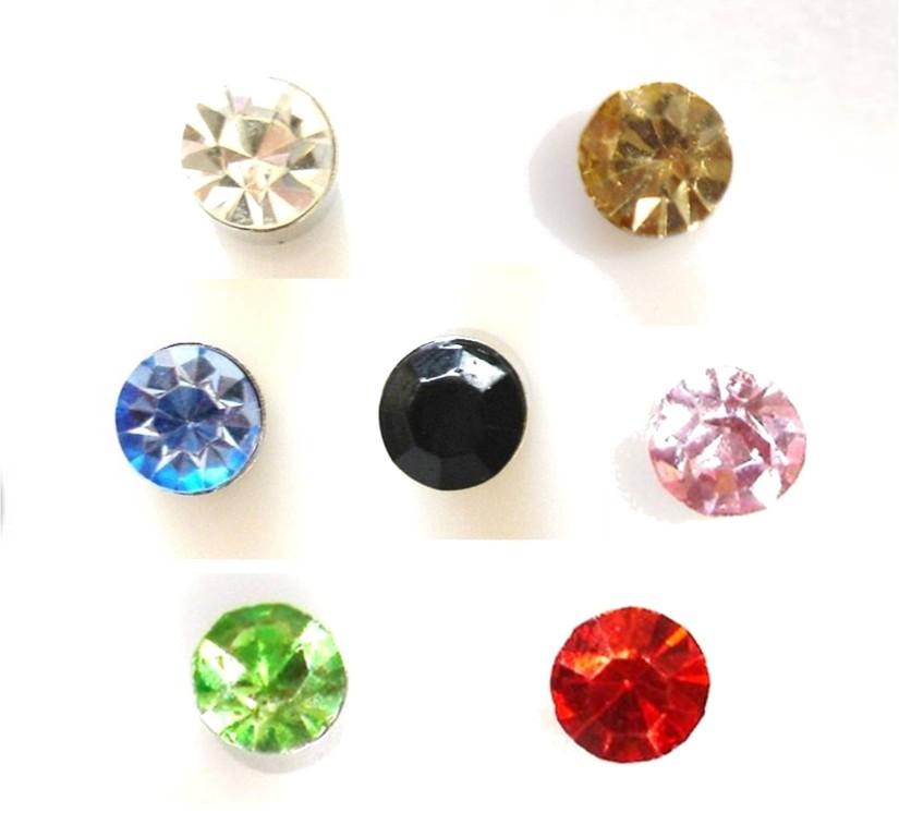 7 pair magnetic stud earrings s 5mm ebay