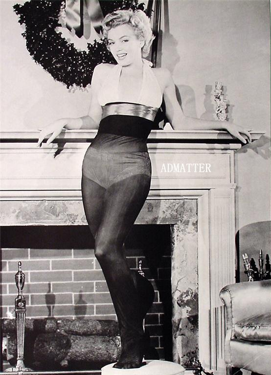 marilyn monroe pin up print christmas stockings photo ad