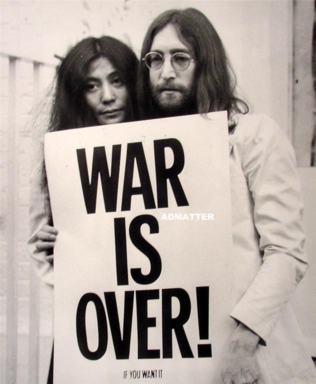 RARE Vintage Beatles 11x14 Poster John Lennon Yoko Ono for sale