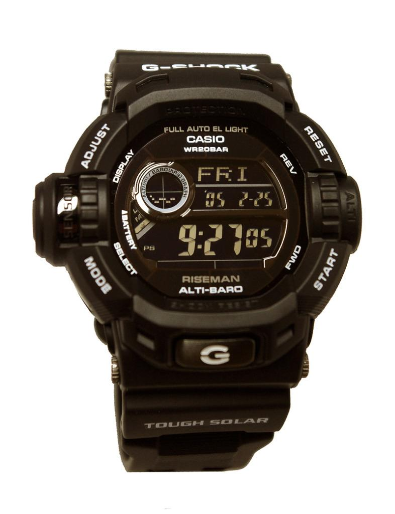 Casio G Shock Solar Riseman Military Black Watch G9200bw