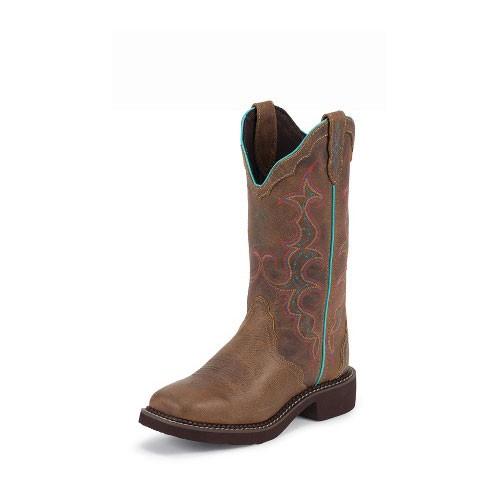 l2900 justin s jaguar square toe cowboy boots