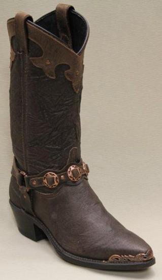 NEW-4556-Sage-Ladies-Chocolate-Pigskin-Western-Boot