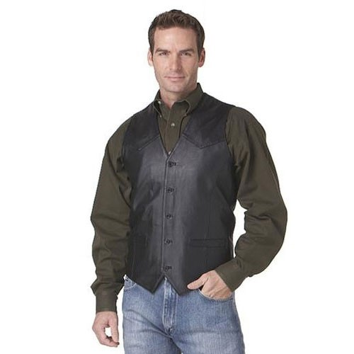 NEW-ML3059-41-Cripple-Creek-Mens-Lamb-Nappa-Vest-with-Button-Front-Black