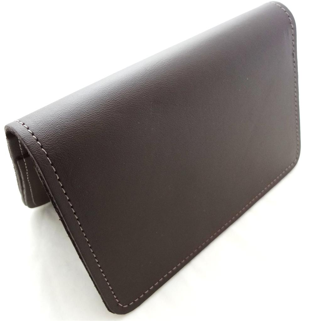 Business Checkbook Covers : Deluxe leather checkbook cover for top stub topstub wallet