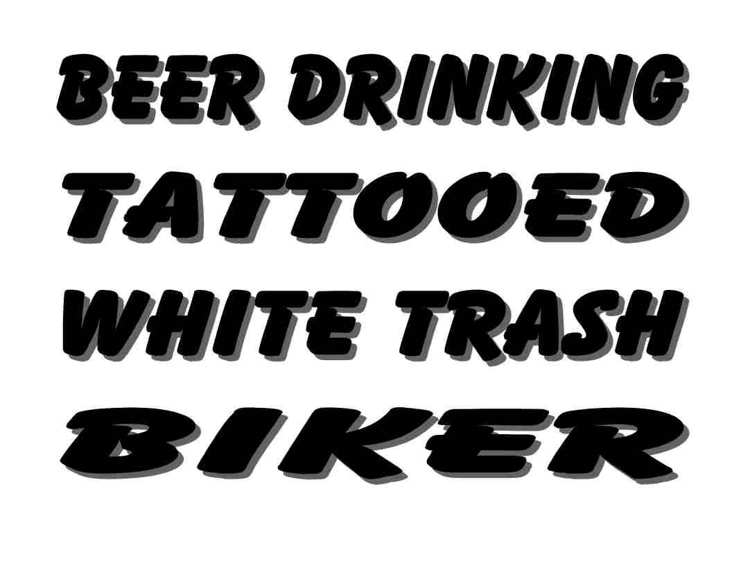 Custom made t shirt beer drinking tattooed white trash for Tattooed white trash t shirt