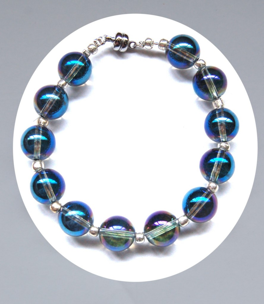 Blue-Celestial-or-Tanzine-Aura-Quartz-Crystal-Necklace-or-Bracelet-Choose-size