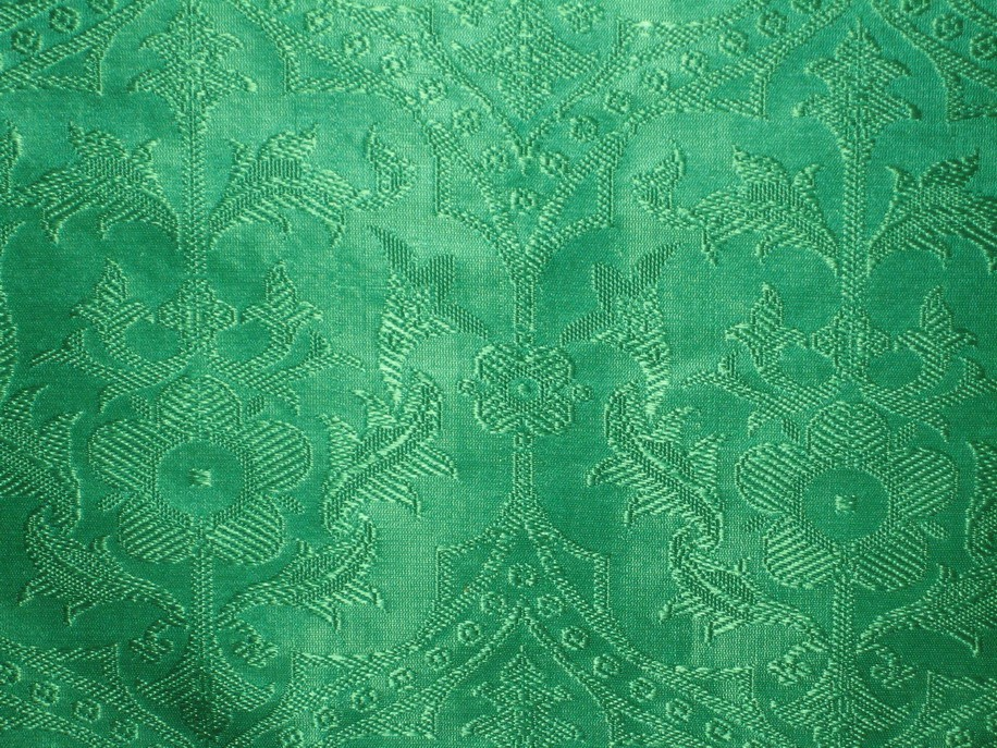 Emerald Green Jacquard Brocade Vestment Fabric Ebay