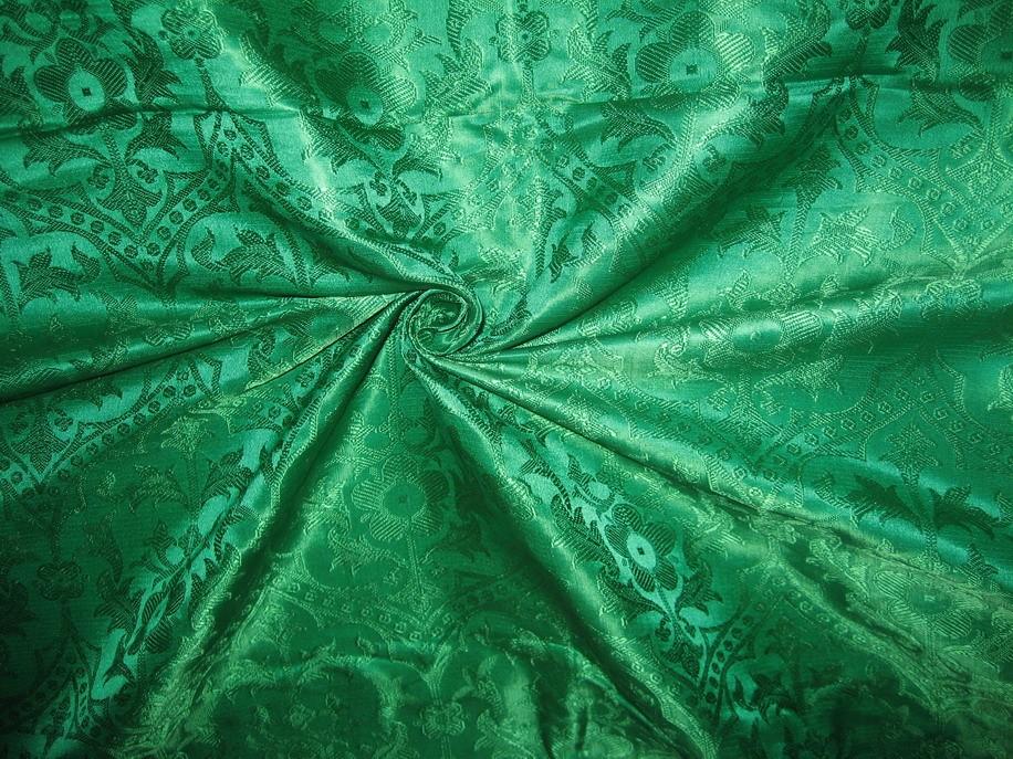 Emerald Green Jacquard Brocade Vestment Fabric