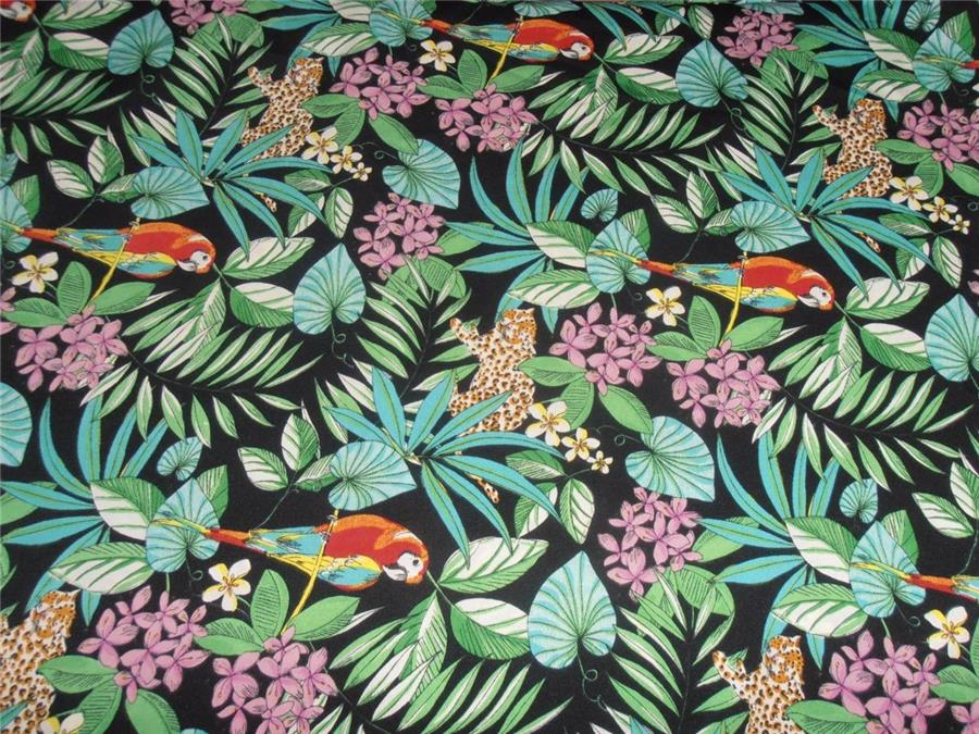 Poly crepe summer cool fabric jungle print 44 for Childrens jungle print fabric