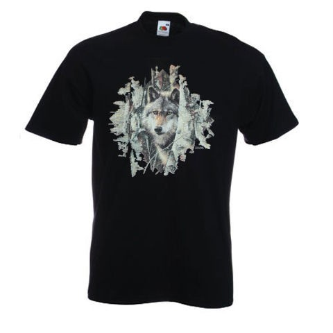 Wolf-Woodland-Spirit-Design-No-9875-Printed-T-Shirt-FOTL-White-Ash-Grey-Black