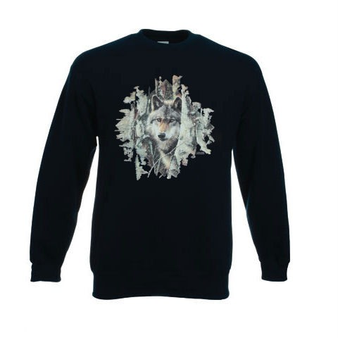 Wolf-Woodland-Spirit-Design-No-9875-Printed-Sweatshirt-Ash-Grey-White-or-Black