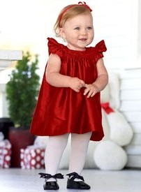 Christmas holiday dresses for baby toddler and little girls color me