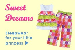 Shop Girl's Pajamas & Nightgowns at Color Me Happy Boutique!
